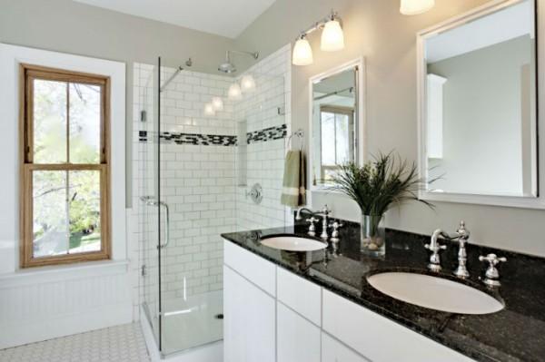 Aranżacja granitu w łazience
